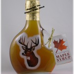 Deer Glass Maple Syrup Bottle